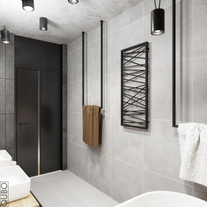 łazienka z cegłą